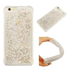 Dynamic Liquid Glitter Sand Quicksand Star TPU Case for iPhone 6s 6 6G(4.7 inch) - Silver