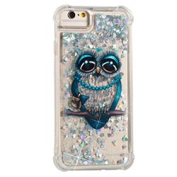 Sweet Gray Owl Dynamic Liquid Glitter Sand Quicksand Star TPU Case for iPhone 6s 6 6G(4.7 inch)