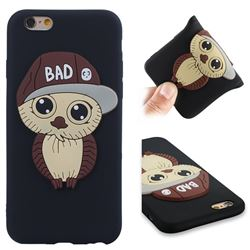 Bad Boy Owl Soft 3D Silicone Case for iPhone 6s 6 6G(4.7 inch) - Black