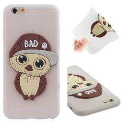 Bad Boy Owl Soft 3D Silicone Case for iPhone 6s 6 6G(4.7 inch) - Translucent White