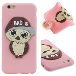 Bad Boy Owl Soft 3D Silicone Case for iPhone 6s 6 6G(4.7 inch) - Pink
