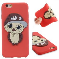 Bad Boy Owl Soft 3D Silicone Case for iPhone 6s 6 6G(4.7 inch) - Red