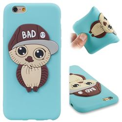 Bad Boy Owl Soft 3D Silicone Case for iPhone 6s 6 6G(4.7 inch) - Sky Blue