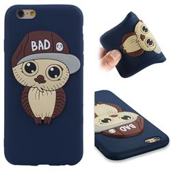 Bad Boy Owl Soft 3D Silicone Case for iPhone 6s 6 6G(4.7 inch) - Navy
