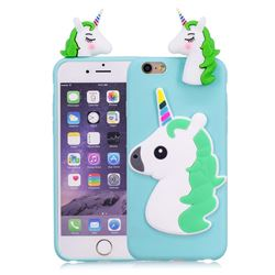 Unicorn Soft 3D Silicone Case for iPhone 6s 6 6G(4.7 inch) - Baby Blue