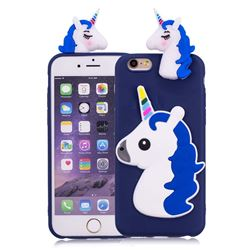 Unicorn Soft 3D Silicone Case for iPhone 6s 6 6G(4.7 inch) - Dark Blue