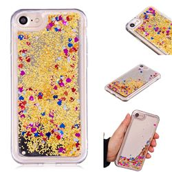 Glitter Sand Mirror Quicksand Dynamic Liquid Star TPU Case for iPhone 6s 6 6G(4.7 inch) - Yellow