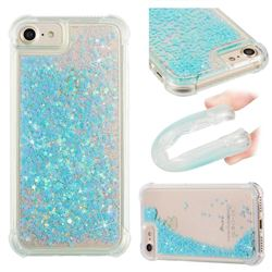 Dynamic Liquid Glitter Sand Quicksand TPU Case Silver Blue Star