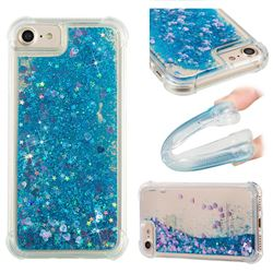 Dynamic Liquid Glitter Sand Quicksand TPU Case for iPhone 6s 6 6G(4.7 inch) - Blue Love Heart