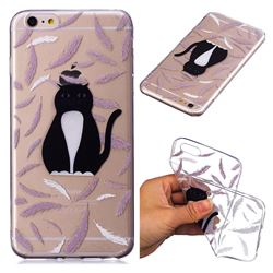 Feather Black Cat Super Clear Soft TPU Back Cover