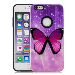 Glossy Butterfly Pattern 2 in 1 PC + TPU Glossy Embossed Back Cover for iPhone 6s 6 6G(4.7 inch)