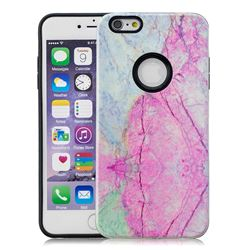 Pink Marble Pattern 2 in 1 PC + TPU Glossy Embossed Back Cover for iPhone 6s 6 6G(4.7 inch)
