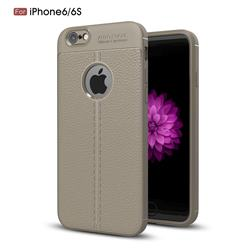 Luxury Auto Focus Litchi Texture Silicone TPU Back Cover for iPhone 6s 6 6G(4.7 inch) - Gray