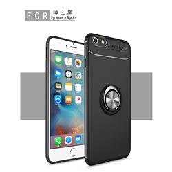 Auto Focus Invisible Ring Holder Soft Phone Case for iPhone 6s 6 6G(4.7 inch) - Black