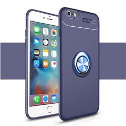 Auto Focus Invisible Ring Holder Soft Phone Case for iPhone 6s 6 6G(4.7 inch) - Blue