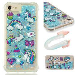 Fashion Unicorn Dynamic Liquid Glitter Sand Quicksand Star TPU Case for iPhone 6s 6 6G(4.7 inch)