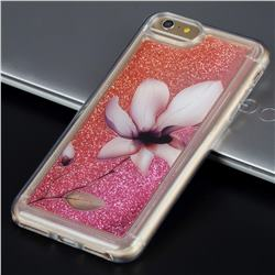 Lotus Glassy Glitter Quicksand Dynamic Liquid Soft Phone Case for iPhone 6s 6 6G(4.7 inch)