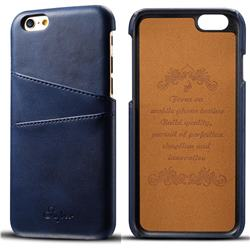 Suteni Retro Classic Card Slots Calf Leather Coated Back Cover for iPhone 6s 6 6G(4.7 inch) - Blue