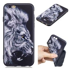 Lion 3D Embossed Relief Black TPU Cell Phone Back Cover for iPhone 6s 6 6G(4.7 inch)