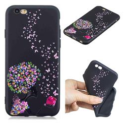 Corolla Girl 3D Embossed Relief Black TPU Cell Phone Back Cover for iPhone 6s 6 6G(4.7 inch)