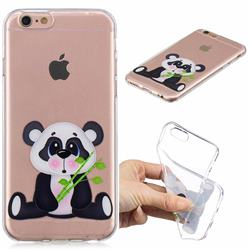Bamboo Panda Clear Varnish Soft Phone Back Cover for iPhone 6s 6 6G(4.7 inch)