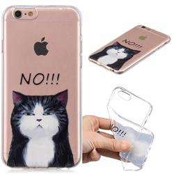 Cat Say No Clear Varnish Soft Phone Back Cover for iPhone 6s 6 6G(4.7 inch)