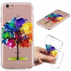 Oil Painting Tree Clear Varnish Soft Phone Back Cover for iPhone 6s 6 6G(4.7 inch)