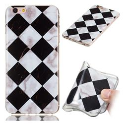 Black and White Matching Soft TPU Marble Pattern Phone Case for iPhone 6s 6 6G(4.7 inch)