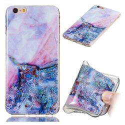 Purple Amber Soft TPU Marble Pattern Phone Case for iPhone 6s 6 6G(4.7 inch)