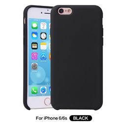 Howmak Slim Liquid Silicone Rubber Shockproof Phone Case Cover for iPhone 6s 6 6G(4.7 inch) - Black