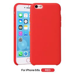 Howmak Slim Liquid Silicone Rubber Shockproof Phone Case Cover for iPhone 6s 6 6G(4.7 inch) - Red