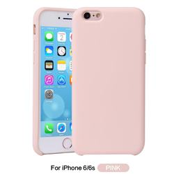 Howmak Slim Liquid Silicone Rubber Shockproof Phone Case Cover for iPhone 6s 6 6G(4.7 inch) - Pink