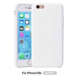 Howmak Slim Liquid Silicone Rubber Shockproof Phone Case Cover for iPhone 6s 6 6G(4.7 inch) - White