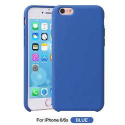 Howmak Slim Liquid Silicone Rubber Shockproof Phone Case Cover for iPhone 6s 6 6G(4.7 inch) - Sky Blue