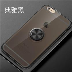Anti-fall Invisible Press Bounce Ring Holder Phone Cover for iPhone 6s 6 6G(4.7 inch) - Elegant Black