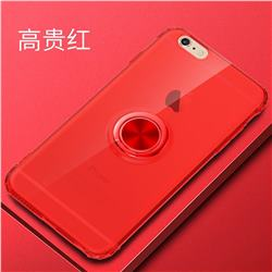 Anti-fall Invisible Press Bounce Ring Holder Phone Cover for iPhone 6s 6 6G(4.7 inch) - Noble Red
