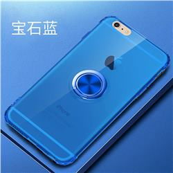 Anti-fall Invisible Press Bounce Ring Holder Phone Cover for iPhone 6s 6 6G(4.7 inch) - Sapphire Blue