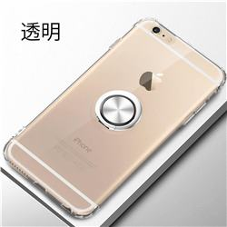 Anti-fall Invisible Press Bounce Ring Holder Phone Cover for iPhone 6s 6 6G(4.7 inch) - Transparent