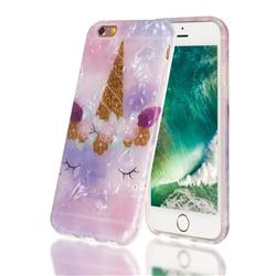 Unicorn Girl Shell Pattern Clear Bumper Glossy Rubber Silicone Phone Case for iPhone 6s 6 6G(4.7 inch)