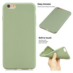 Soft Matte Silicone Phone Cover for iPhone 6s 6 6G(4.7 inch) - Bean Green