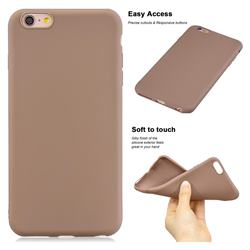 Soft Matte Silicone Phone Cover for iPhone 6s 6 6G(4.7 inch) - Khaki