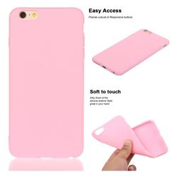 Soft Matte Silicone Phone Cover for iPhone 6s 6 6G(4.7 inch) - Rose Red