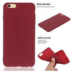 Soft Matte Silicone Phone Cover for iPhone 6s 6 6G(4.7 inch) - Wine Red