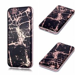 Black Galvanized Rose Gold Marble Phone Back Cover for iPhone 6s 6 6G(4.7 inch)