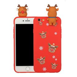 Elk Snowflakes Christmas Xmax Soft 3D Doll Silicone Case for iPhone 6s 6 6G(4.7 inch)