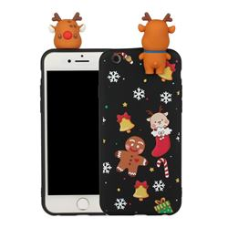 Gift Snow Christmas Xmax Soft 3D Doll Silicone Case for iPhone 6s 6 6G(4.7 inch)