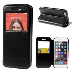 Roar Korea Noble View Leather Flip Cover for iPhone 6 (4.7 inch) - Black