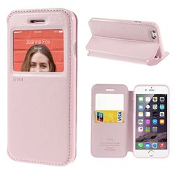 Roar Korea Noble View Leather Flip Cover for iPhone 6 (4.7 inch) - Pink