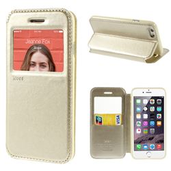 Roar Korea Noble View Leather Flip Cover for iPhone 6 (4.7 inch) - Champagne