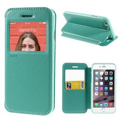 Roar Korea Noble View Leather Flip Cover for iPhone 6 (4.7 inch) - Cyan